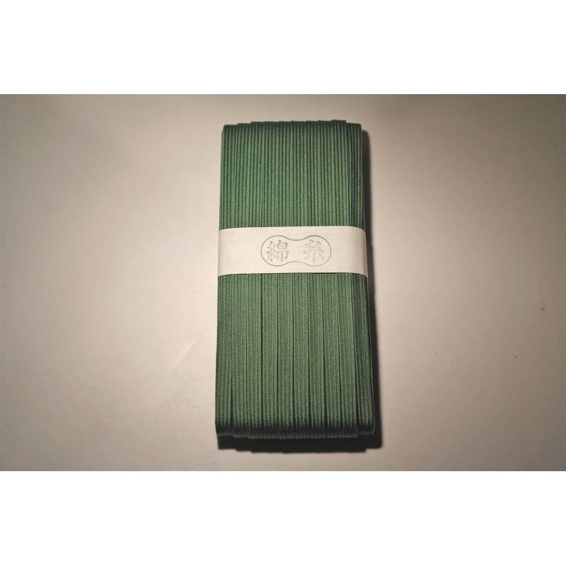 10mm Japanese cotton tsuka-ito green