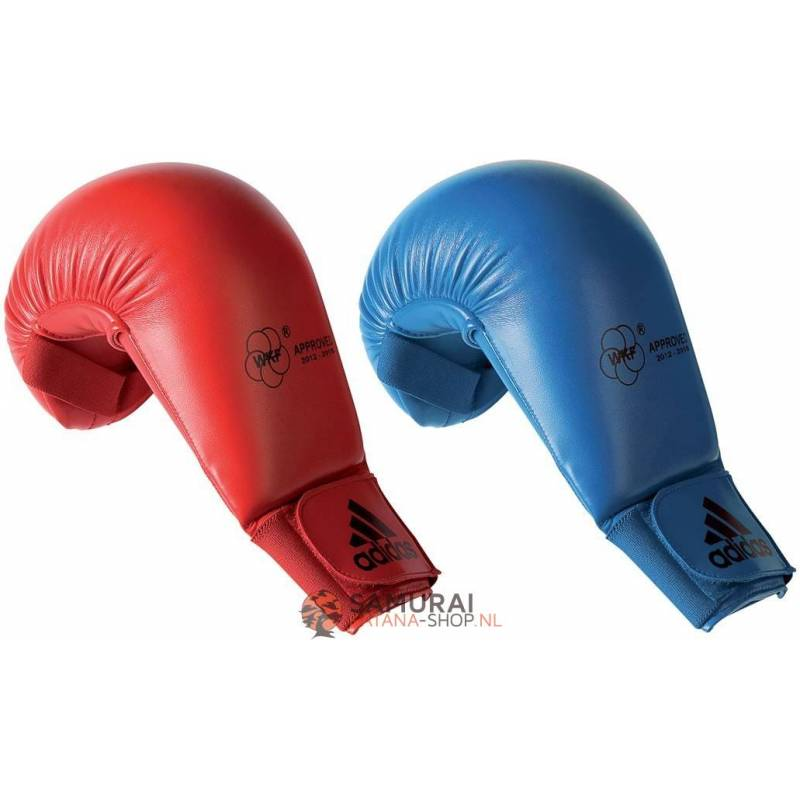 Rood Adidas Karate Handschoen Mitt WKF