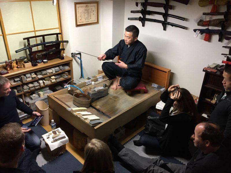Japans Samurai Samoerai Zwaard Katana polijsting