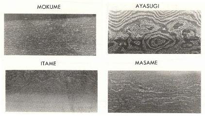 hada vouw patroon zwaard katana damascus