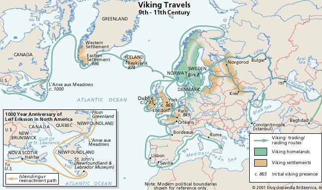 Viking routes